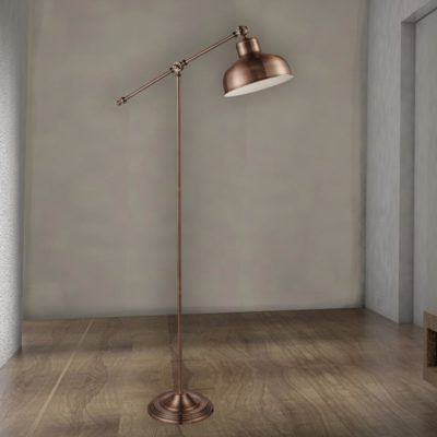 Antique Copper Floor Lamp
