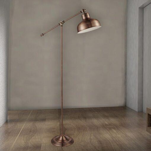 Antique Copper Floor Lamp