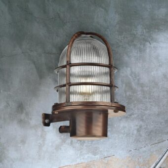 Antique Copper Outdoor Wall Light