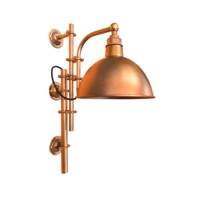 Antique Copper Steampunk Wall Light