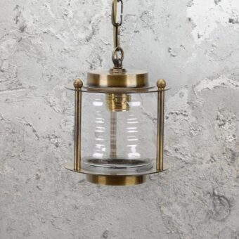 Antique Nautical Brass Lantern Pendant Light