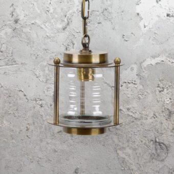 Antique Nautical Brass Lantern Pendant Light