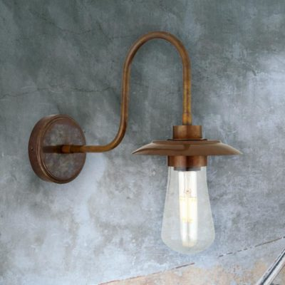 Antique Outdoor Minimal Brass Wall Light
