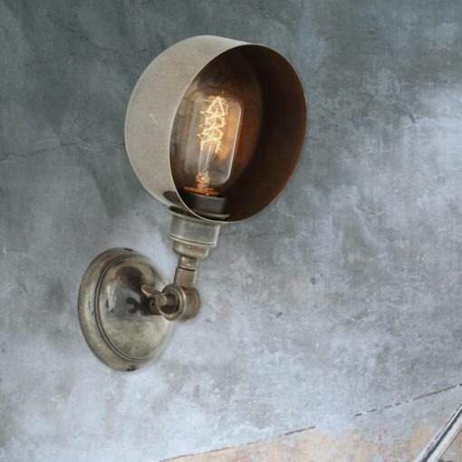 Antique Silver Adjustable Wall Light