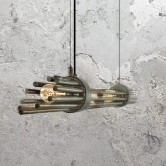 Antique Silver Contemporary Linear Chandelier