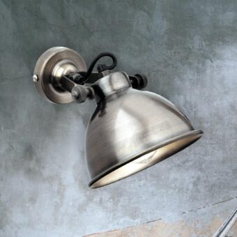 Antique Silver Single Spotlight
