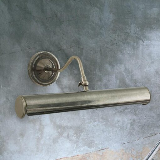 Antique Silver Solid Brass Picture Light