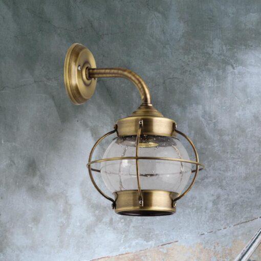 Antique Vintage Brass Wall Lantern