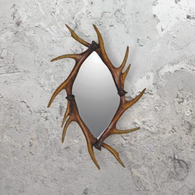 traditional deer antler mirror