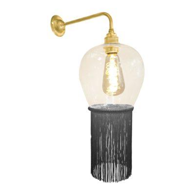 Ash Grey Fringe Glass Wall Light