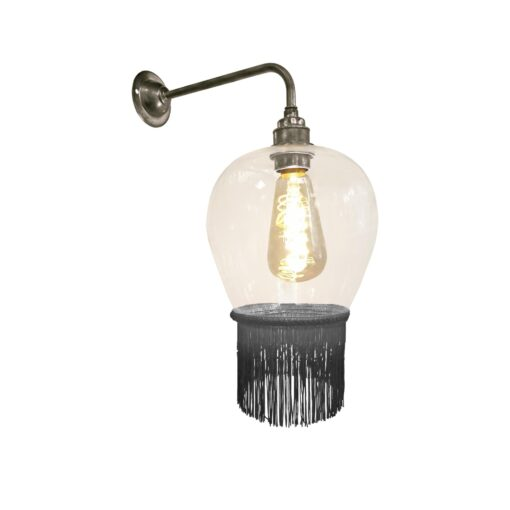 Ash Grey Fringe Glass Wall Light