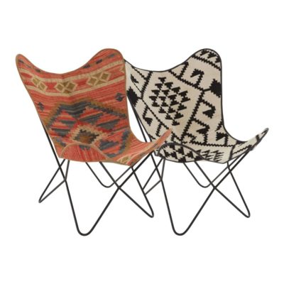 Aztec Print Butterfly Chair