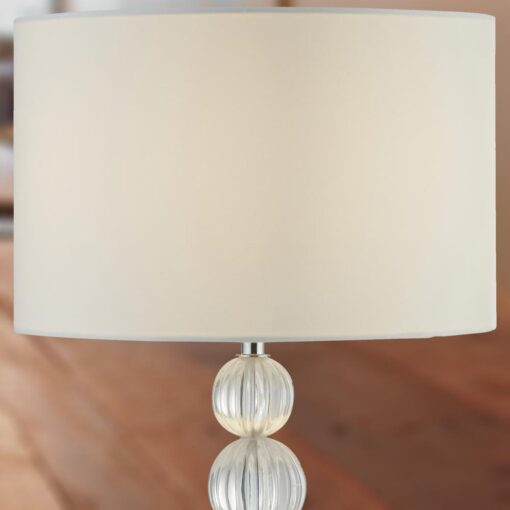 Balls Table Lamp with White Shade