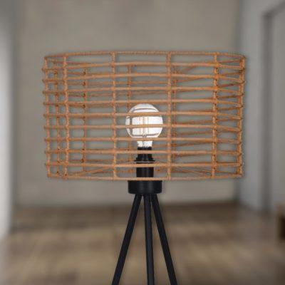 Bamboo Tripod Floor Lamp