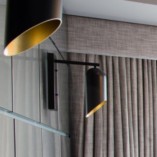 Bespoke Black & Gold Inner Wall Light