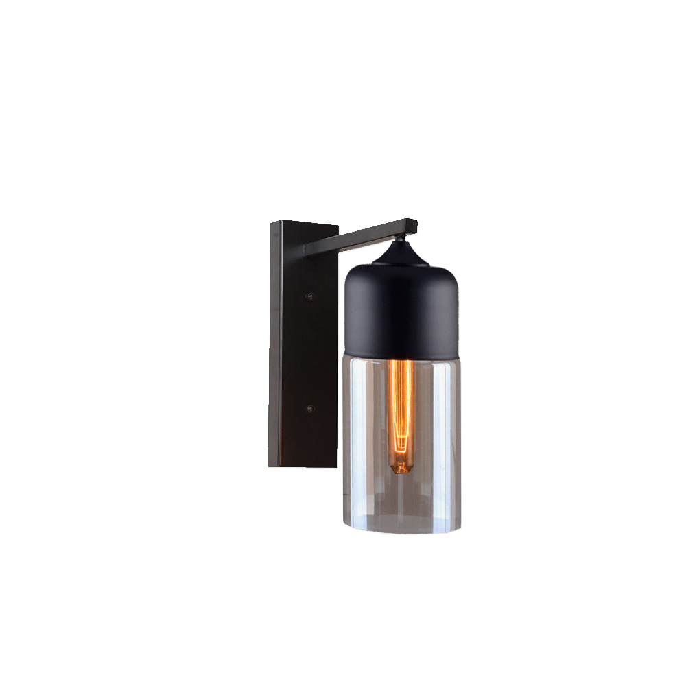 the best attitude a7314 d0a53 Vintage Smoked Glass Wall Light CLB-00613 | E2 Contract ...