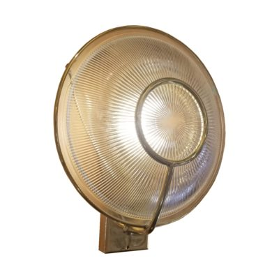 Polished Brass Prismatic Glass Dish Wall Light
