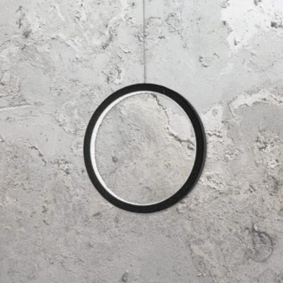 Black 300mm Vertical Ring Pendant Light