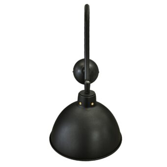 Black Adjustable Swan Neck Wall Light