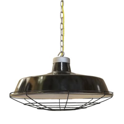 Black Cage Black Enamel Pendant Light