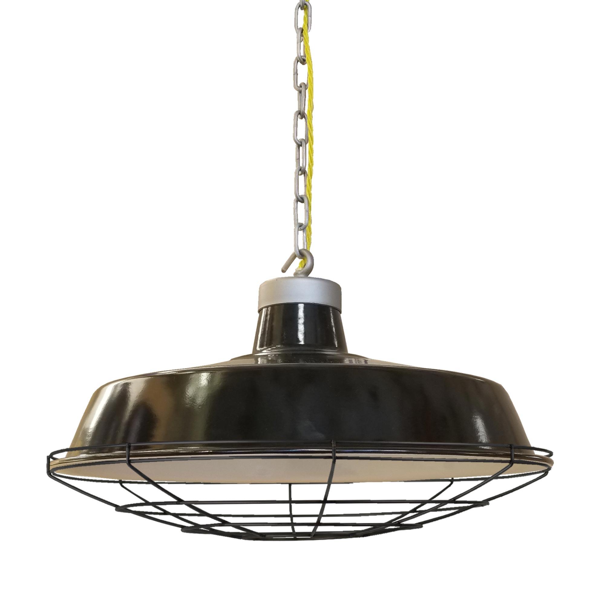 Industrial Enamel Pendant Light E2 Contract Lighting Uk