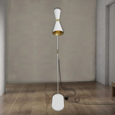 White Contemporary Floor Lamp