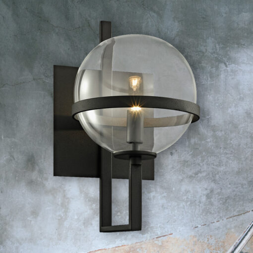 Black Contemporary Globe Wall Light