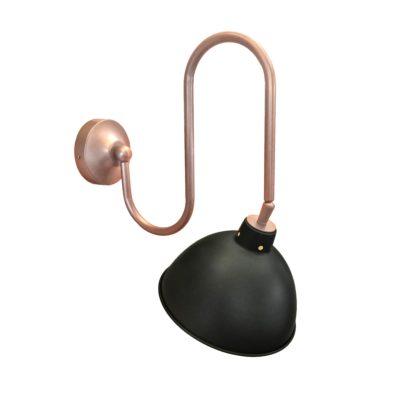Black Copper Adjustable Neck Wall Light
