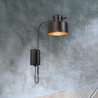 Black Copper Wall Light