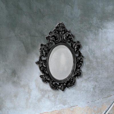 traditional black decorative wall mirror
