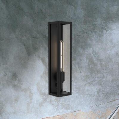 Black Elongated Outdoor Wall Light