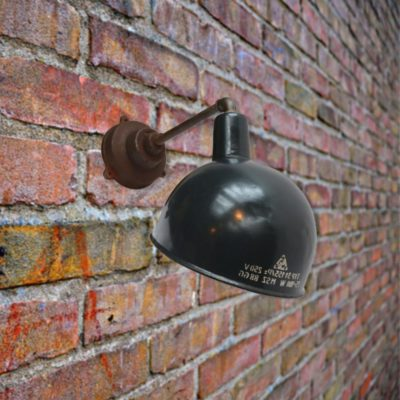 Black Enamel Wall Light