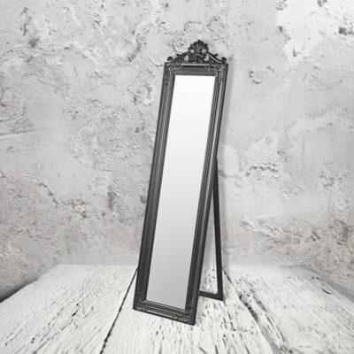 black floor standing mirror