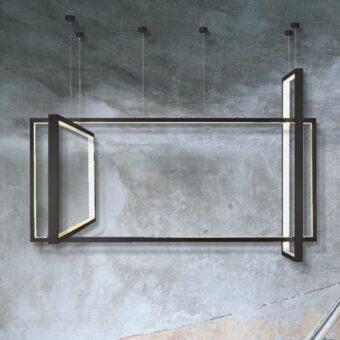 Black Frame LED Pendant Light