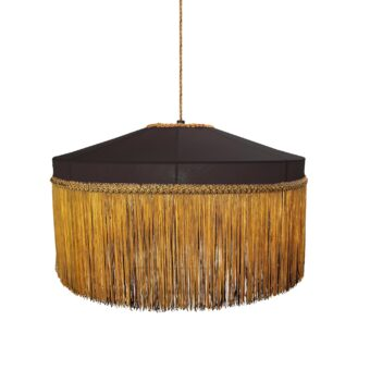 Gold Black Fringe Tassels Pendant Light 400mm