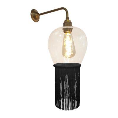 Black Fringe Glass Wall Light