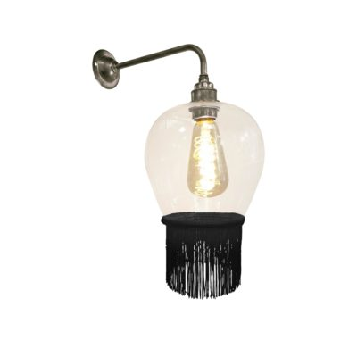 Black Fringe Glass Wall Light