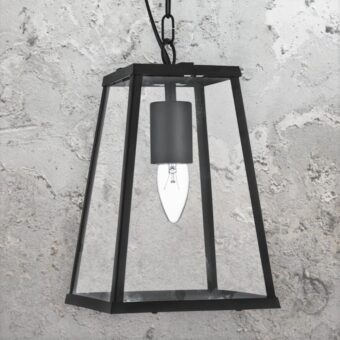 Black Glass Candle Pendant Light