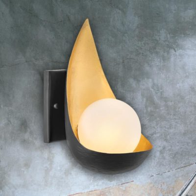 Black Gold Modern Wall Light