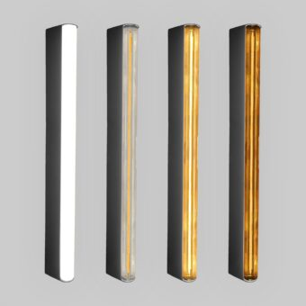 Black LED Tube Wall Light