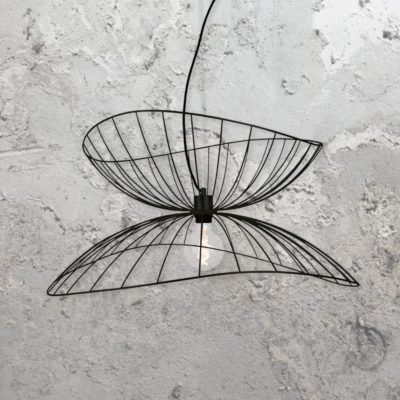 Black Metal Frame Pendant Light
