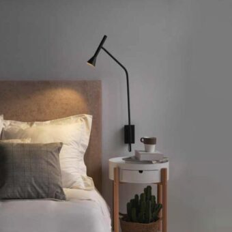 Black Modern Bedside Wall Lamp