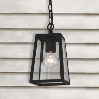 Black Outdoor Pendant Light
