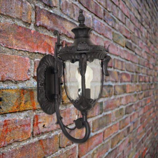 Black Outdoor Wall Lantern