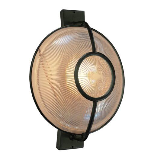 Black Prismatic Glass Dish Wall Light