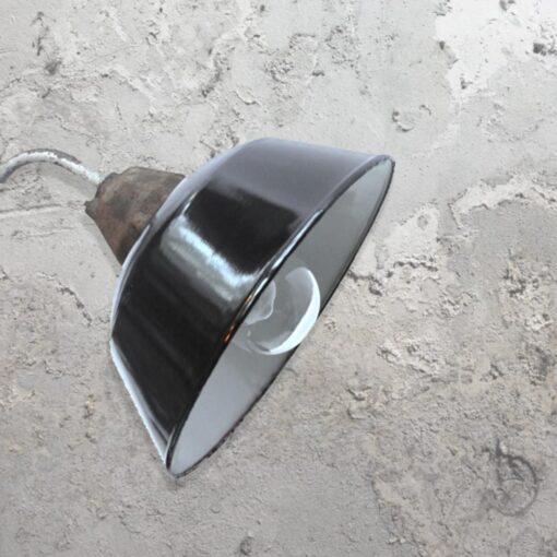 Black Reclaimed Wall Light