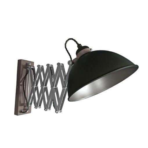 Black Scissor Arm Wall Light Gunmetal Inner