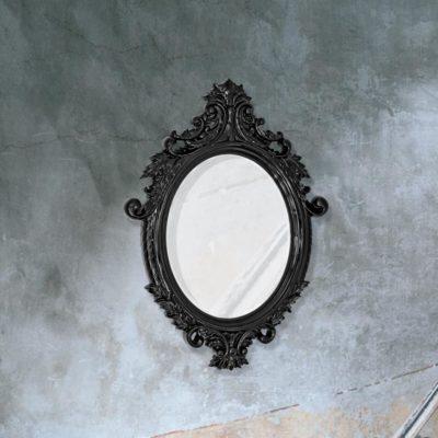 traditional decorative black Venetian mirror