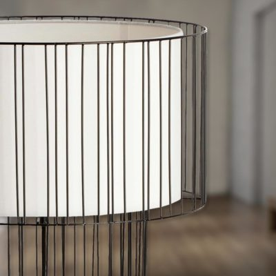 Black Wire Frame Floor Lamp