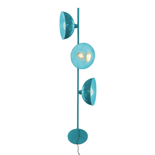 Blue 3 Light Retro Floor Lamp